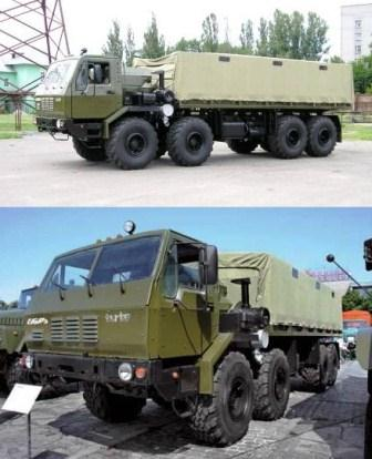 KRAZ 7E6316 Siberia 8x8 tested in 1988