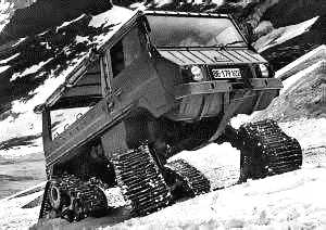 Pinzgauer of Steyr Puch with additional tracks