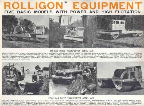 Rolligon model 6x6 6650 and 4x4 4450