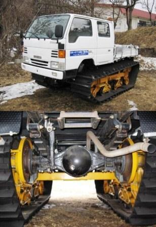 Tracks kit for utility vehicles