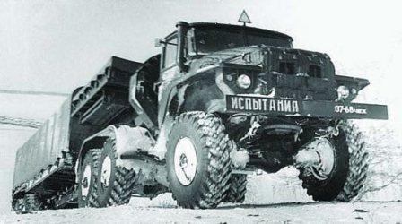 Ural 380 S tractor with Ural-862 semi trailer, 10x10, 1963