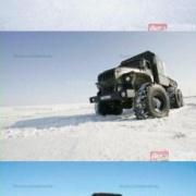 Ural Polarnik, from Ural-4320-0911-40 by oversized tyres, 0,06 kg/cm²