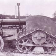 Leamington half-track prototype conversion on Fordson tractor.