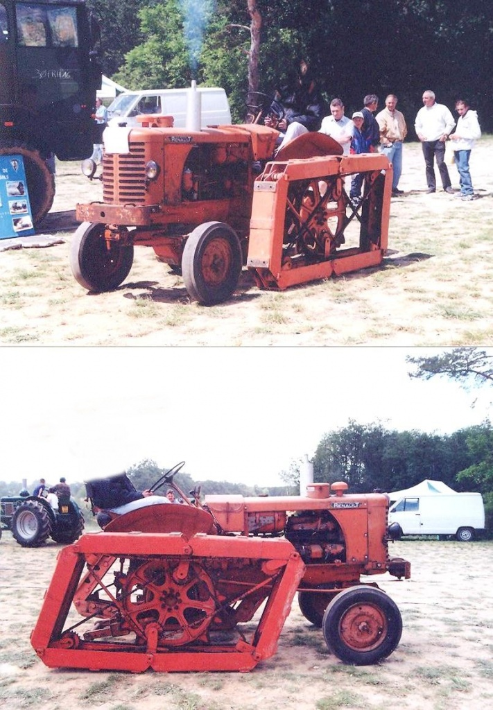 Rotaped tracks on Renault tractor 8