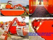 Kubota Excavator-on Amphibious Carrier