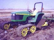 Mattracks Tracks on John-Deere Tractor