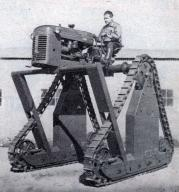 Tractor mounted on Stilts, 1954
