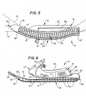 US004714125-003 Snowmobile with Bendable Track