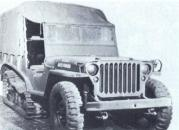 Willys MB-modified-snow-tractor, half-track T28